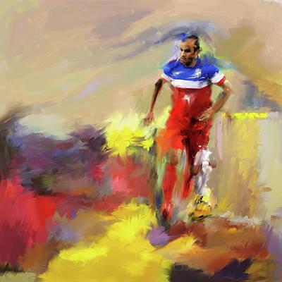 Landon Donovan Painting - Landon Donovan 545 1 by Mawra Tahreem