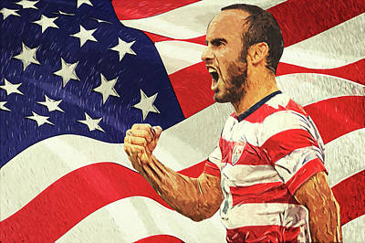 Digital Art - Landon Donovan by Taylan Apukovska