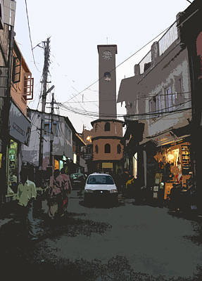 Landour Clock Tower Art Print