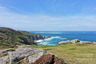 Photograph - Land's End And Longships Lighthouse Cornwall by Terri Waters