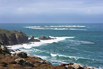 Photograph - Lands End And Longships Lighthouse by Terri Waters