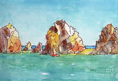 Painting - Lands End Cabo San Lucas Mexico by Pat Katz