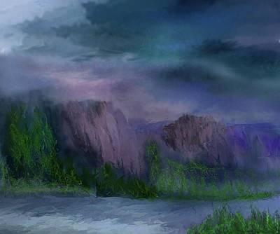 Digital Art - Landscape 033011 Revisited by David Lane
