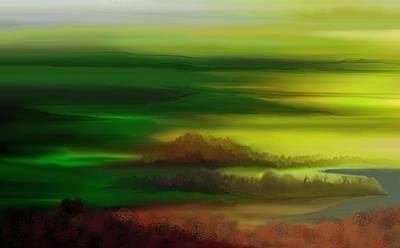Digital Art - Landscape 081710 by David Lane