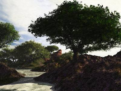 Digital Art - Landscape 082510 by David Lane