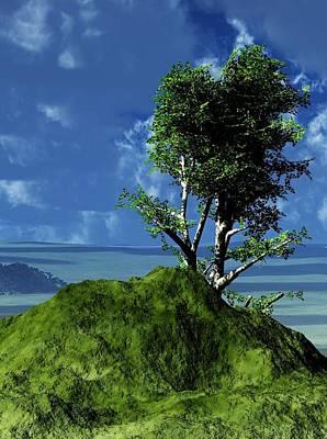 Digital Art - Landscape 121410 by David Lane