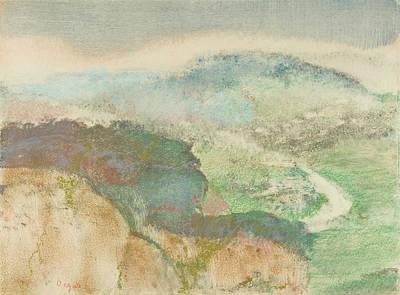 Relief - Landscape, 1892.  by Edgar Degas
