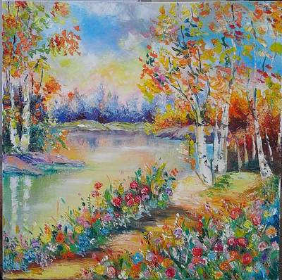 Painting - Landscape 2 by Asia Dzhibirova