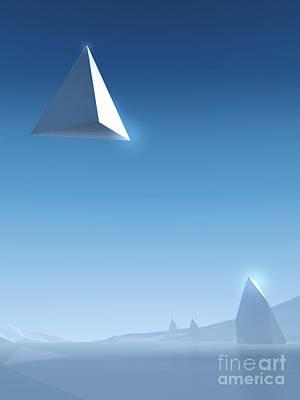 Icy Digital Art - Landscape #2 by Pixel Chimp