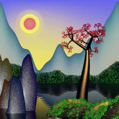 Landscape Digital Art - Landscape 3 by GuoJun Pan