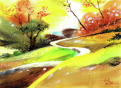 Painting - Landscape 6 by Anil Nene