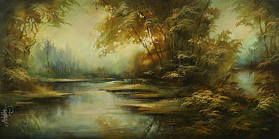 Moody Painting - Landscape 9 by Michael Lang
