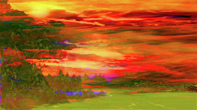 Photograph - Landscape Abstract-enchantment by Mike Breau