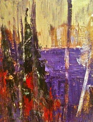 Landscape Abstract In Purple Art Print by Mary-Lynn Bastian