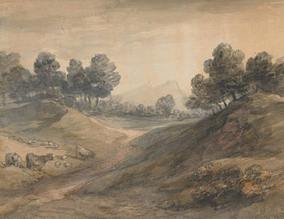 Painting - Landscape And Cattle by Thomas Gainsborough