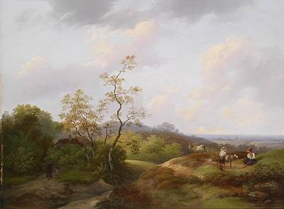 Painting - Landscape And The Karavanken by Ignaz Raffalt