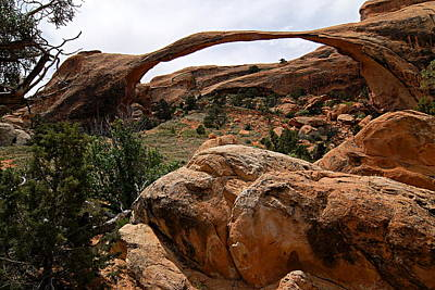 Photograph - Landscape Arch -- Arches National Park by Larry Ricker