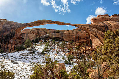 Photograph - Landscape Arch - Arches National Park Moab Utah by Brian Harig