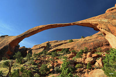 Photograph - Landscape Arch by Dana Sohr
