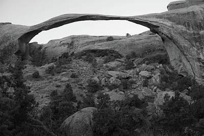 Photograph - Landscape Arch by Marie Leslie