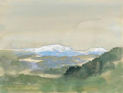 Drawing - Landscape by Arthur Bowen Davies