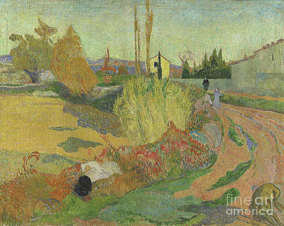 Roadside Painting - Landscape At Arles, 1888 by Paul Gauguin