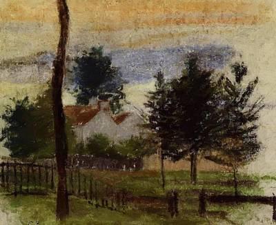 Landscape At Louveciennes Art Print
