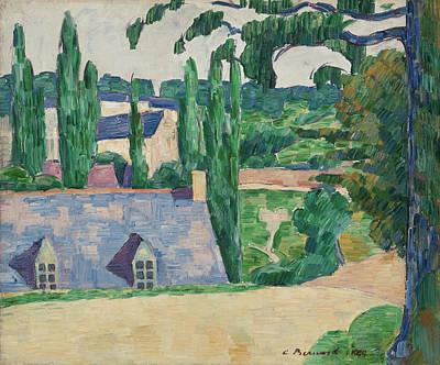 Townscape Painting - Landscape At Pont-aven by Emile Bernard