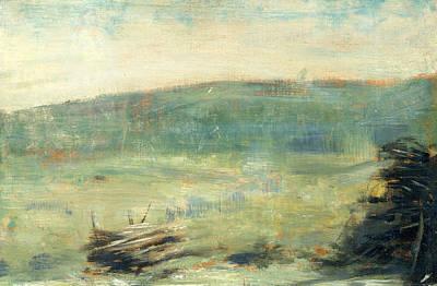 Painting - Landscape At Saint-ouen by Georges-Pierre Seurat