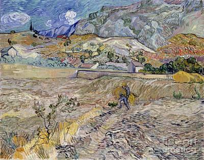 Landscape At Saint-remy Art Print by Vincent Van Gogh