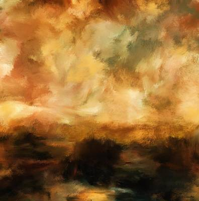 Landscape At Sunset Art Print