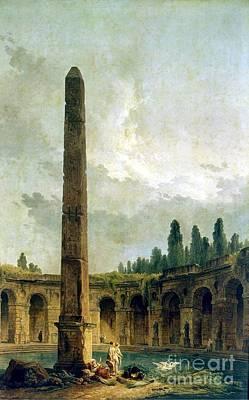 Obelisk Painting - Landscape At The Obelisk by MotionAge Designs