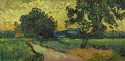 Landscape At Twilight Art Print