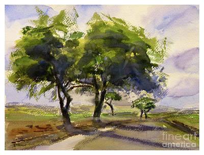 Painting - landscape  Burmarrad by Godwin Cassar