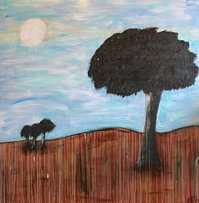 Painting - Landscape - Distant Cousins by Mario MJ Perron