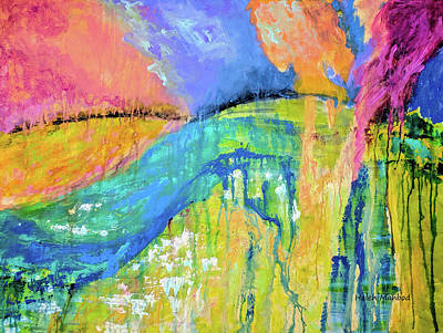 Painting - Landscape Drip Abstract by Haleh Mahbod