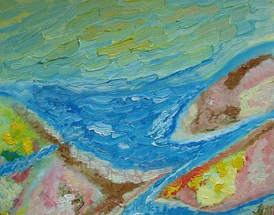 Painting - Landscape. Fantasy 12. Top View. by Bennu