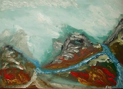 Painting - Landscape. Fantasy 19-2. by Bennu