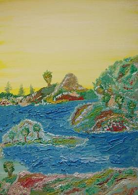 Painting - Landscape. Fantasy 28. by Bennu