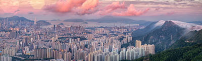 Landscape For Hong Kong City Art Print