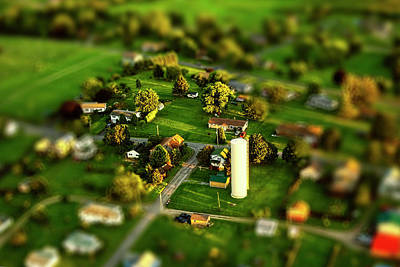 Photograph - Pennsylvania Landscape From Aloft In An Ultralight With Tilt-shift by Kay Brewer