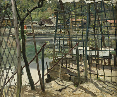 Norwegian Painting - Landscape From Meudon, France by Eilif Peterssen