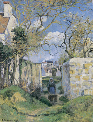 Pissarro Painting - Landscape From Pontoise by Camille Pissarro