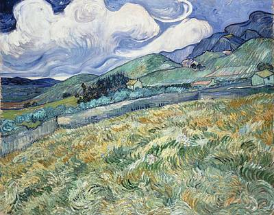 Painting - Landscape From Saint Remy At Wheat Fields  Van Gogh Series   By Vincent Van Gogh by Artistic Panda