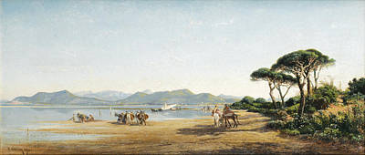 South Of France Painting - Landscape From The South Of France by Vincent Courdouan