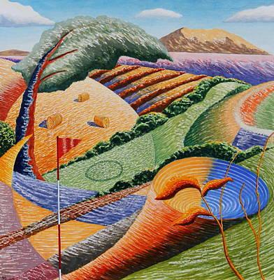 Landscape Funnel Art Print by Adrian Jones