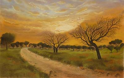 Mohammad Painting - Landscape  by Hanieh Mohammad Bagher