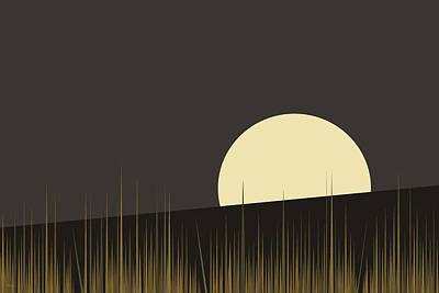 Digital Art - Landscape - Hilltop 3 by Val Arie