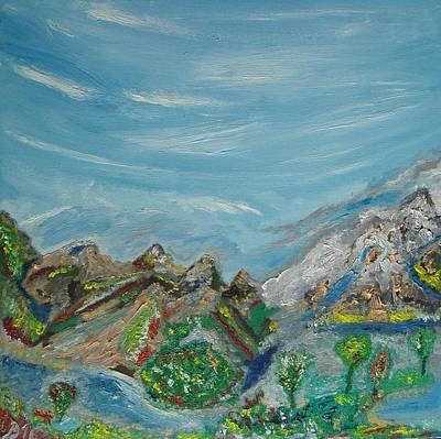 Painting - Landscape. Imagination. by Bennu
