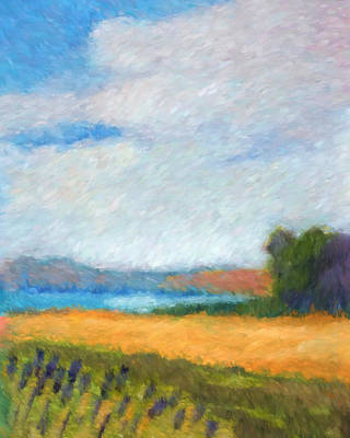Impressionistic Landscape Painting - Landscape Impressionist by Lutz Baar